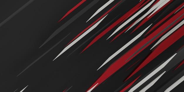 Abstracte technologie achtergrond high tech cyberpunk concept 3d illustratie