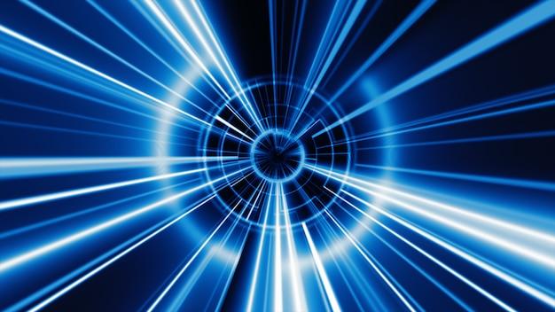 Abstracte technologie geometrische tunnel achtergrond