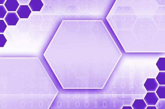 Abstracte technologische achtergrond bestaande uit een reeks zeshoeken
