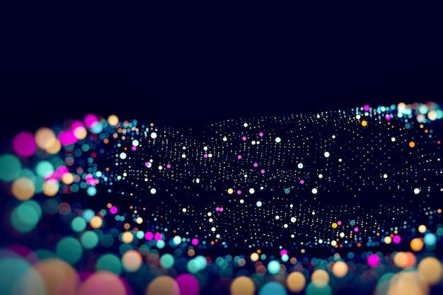Abstracte technologische achtergrond in levendige kleuren met onscherpte