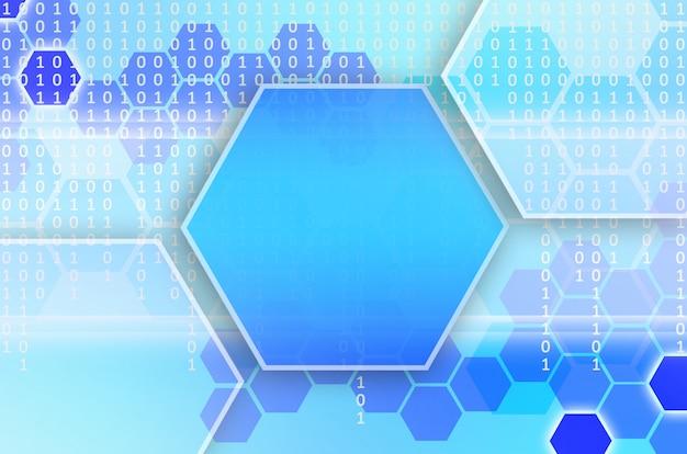 Abstracte technologische achtergrond van een reeks zeshoeken