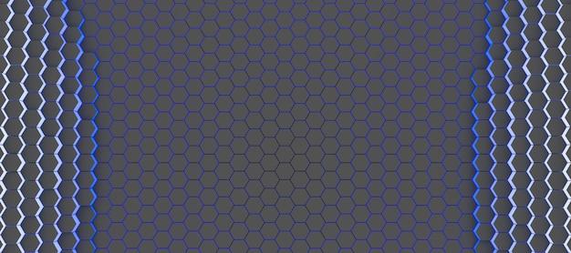 Abstracte technologische achtergrond van zeshoeken, 3d illustratie