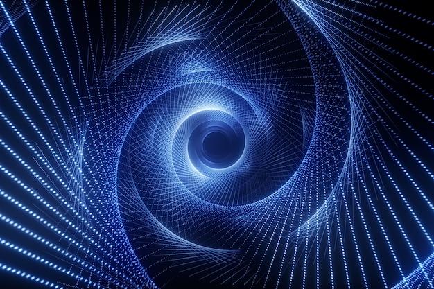 Abstracte technologische vlucht in digitale ruimte