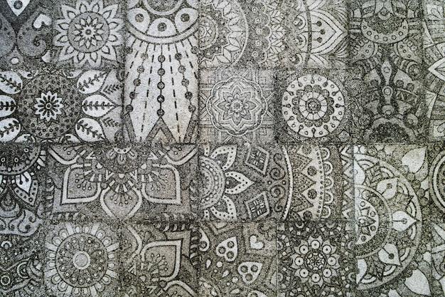 Abstracte textuur met damast naadloze patroon.