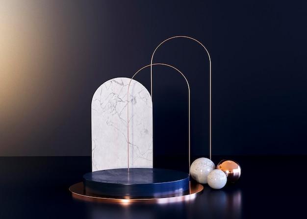 Abstracte therapie concept geometrische vormen achtergrond
