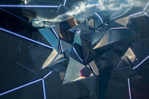 Abstracte transparante reflectieachtergrond