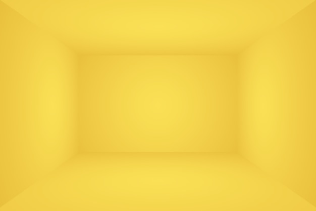 Abstracte vaste stof van glanzende gele gradiënt studio muur kamer achtergrond d kamer