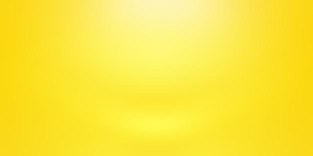 Abstracte vaste stof van glanzende gele gradiënt studio muur kamer achtergrond. Gratis Foto