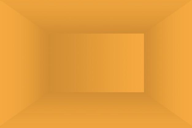 Abstracte vaste stof van glanzende gele gradiënt studio muur kamer achtergrond