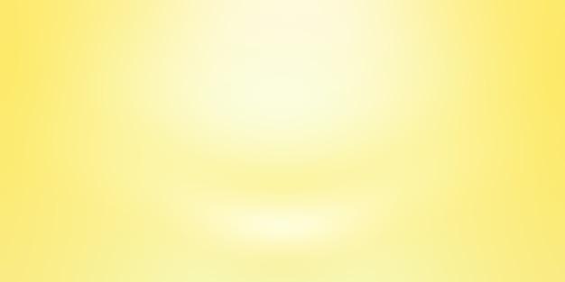 Abstracte vaste stof van glanzende gele gradiënt studio muur kamer achtergrond.