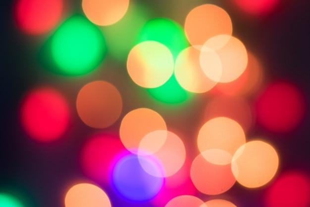Abstracte veelkleurige bokeh. kerstmisachtergrond van defocused de abstracte lichten. selectieve fo