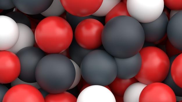 Abstracte veelkleurige bollen minimalistische moderne achtergrond ontwerp ballen vormen 3d render