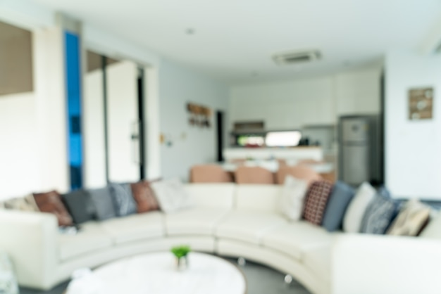 Abstracte vervagen woonkamer voor achtergrond