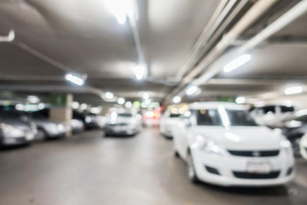Abstracte vervaging auto parkeerplaats