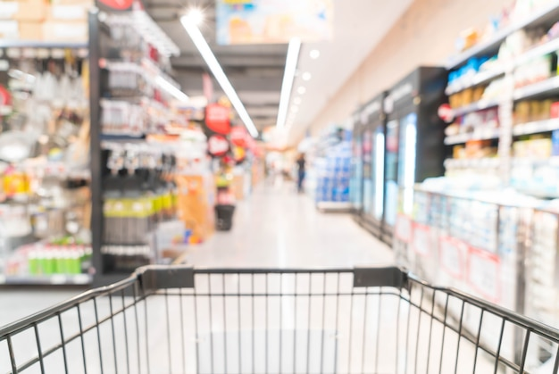 Abstracte vervaging in de supermarkt