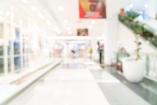 Abstracte vervaging winkel en winkel in winkelcentrum voor achtergrond