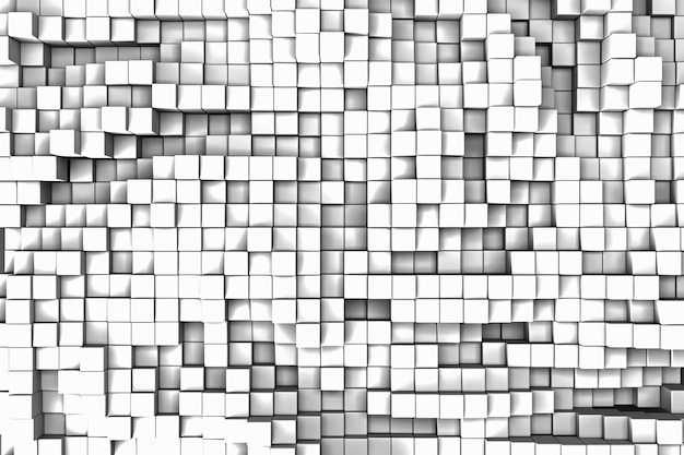 Abstracte vierkante mode kleur textuur in techno stijl. 3d-weergave.