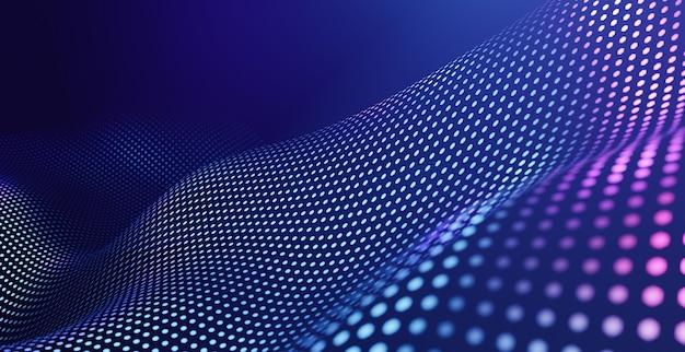 Abstracte vijfhoek met lightwave-technologieachtergrond