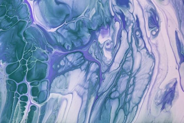 Abstracte vloeibare kunst blauwe en witte kleuren als achtergrond