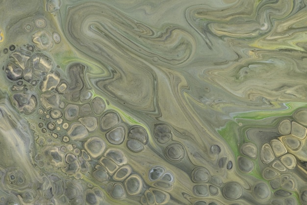 Abstracte vloeiende kunst achtergrond donkergroene en grijze kleuren
