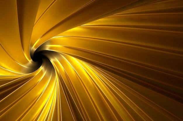 Abstracte volumetrische gouden achtergrond