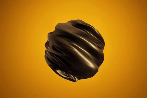 Abstracte vorm modern. gedraaide zwarte bol
