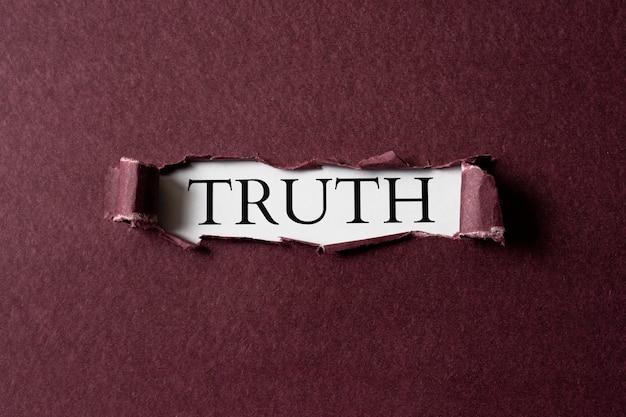 Abstracte waarheid concept regeling