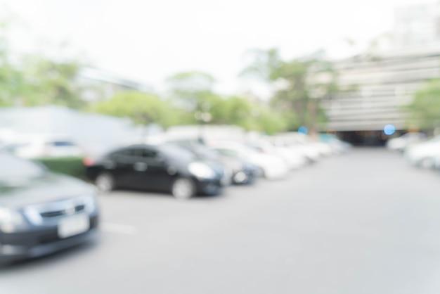 Abstracte wazig parkeren auto