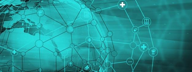 Abstracte wereldwijde gezondheidszorg achtergrond
