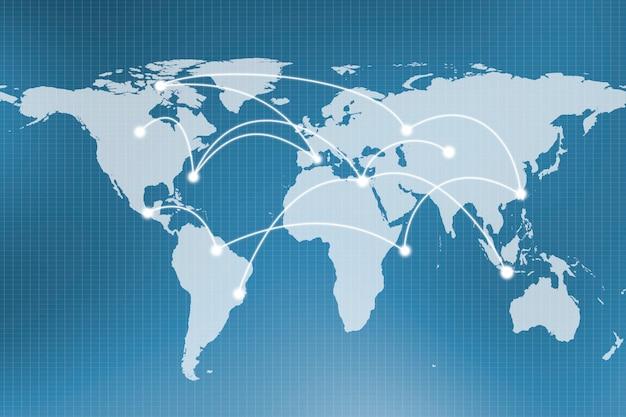 Abstracte wereldwijde netwerkverbinding
