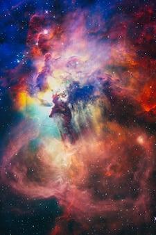 Abstracte wetenschappelijke achtergrond. afbeelding van de nevel in de diepe ruimte. melkwegstelsel en nevel in de ruimte. elementen van deze afbeelding ingericht