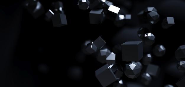 Abstracte wetenschappelijke zwarte moleculen