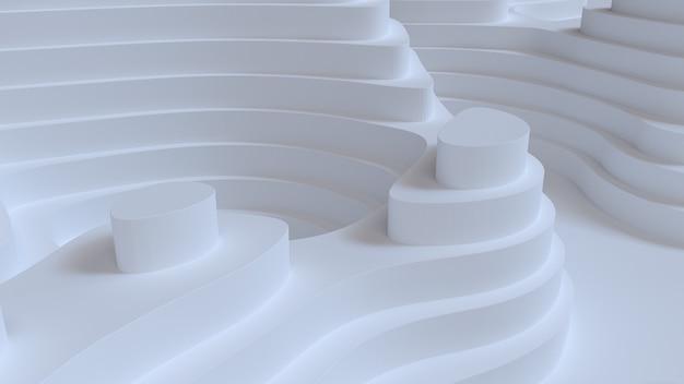 Abstracte witte achtergrond met topografiehulp
