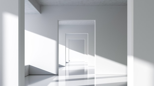 Abstracte witte architectuur