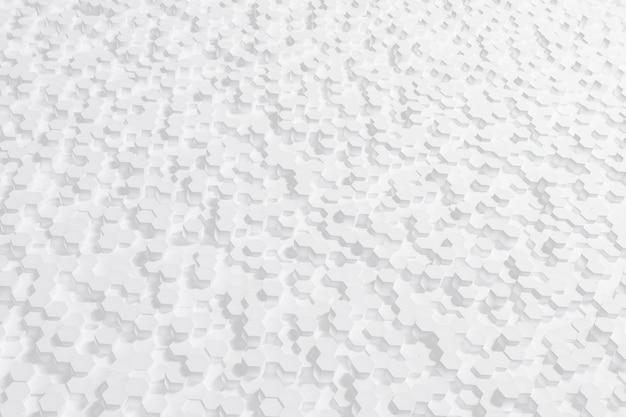 Abstracte witte zeshoek achtergrond