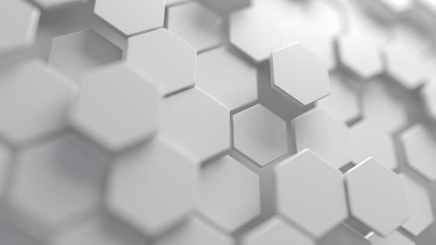 Abstracte witte zeshoekige achtergrond