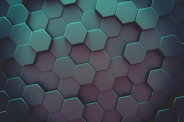 Abstracte zeshoekige moderne achtergrond