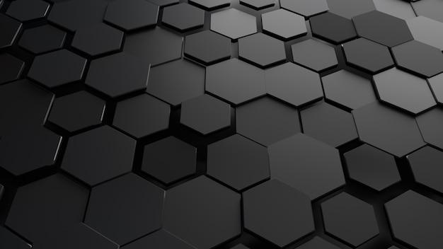 Abstracte zeshoekige zwarte achtergrond