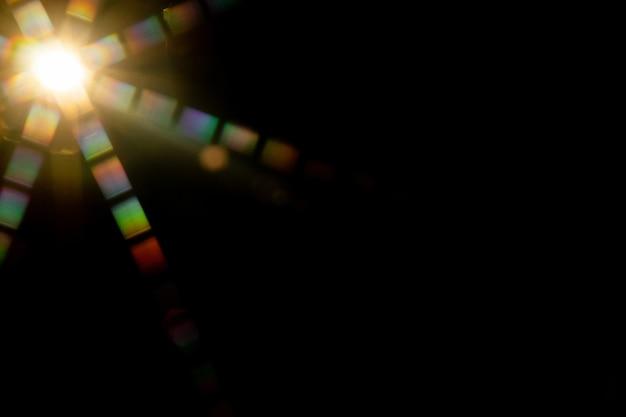 Abstracte zonnevlam. de lensflare is onderhevig aan digitale correctie.