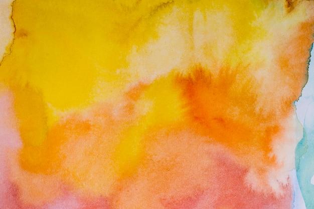 Abstracte zonsondergang verf borstels aquarel achtergrond