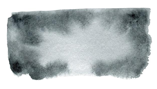 Abstracte zwart-wit aquarel vorm geïsoleerd op een witte achtergrond