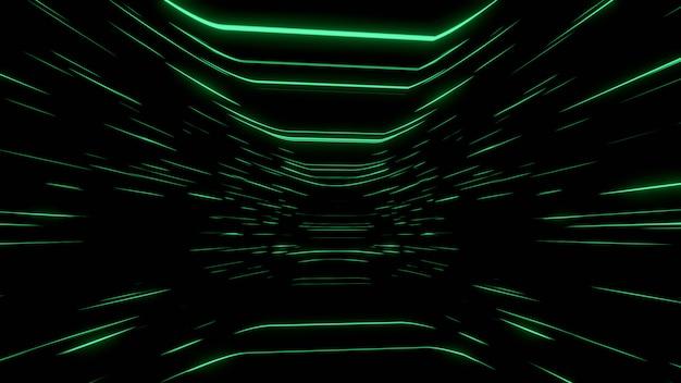 Abstracte zwarte achtergrond wallpaper achtergrond groene lijn snelheid gloed scherm
