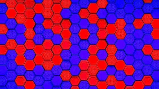 Abstracte zwarte zeshoekig