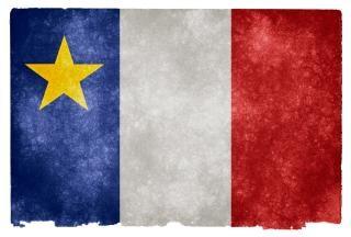 Acadian grunge vlag gestreepte