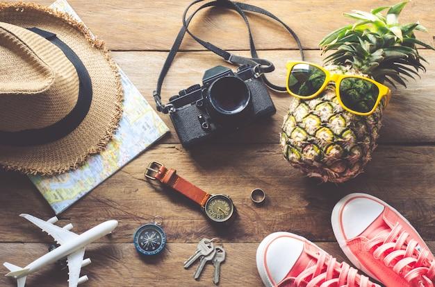 Accessoires en kostuum toerisme informele levensstijl.