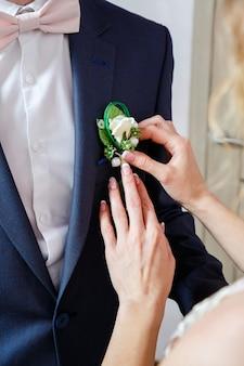 Accessoires voor de bruidegom op de trouwdag