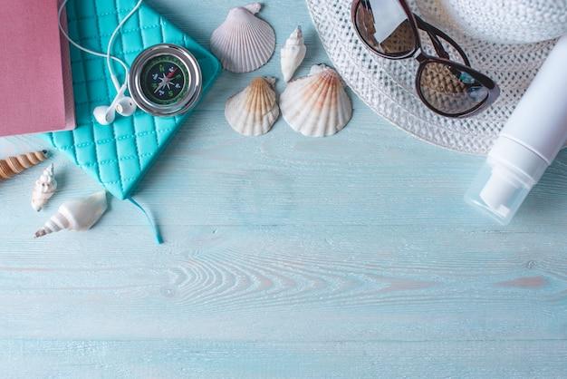 Accessoires voor de zomer zonnige vakantie in het resort
