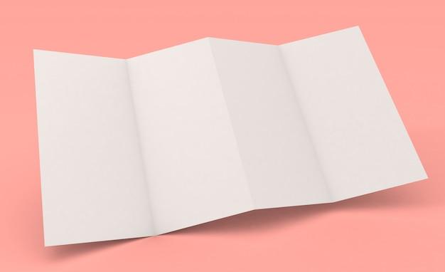 Accordeonvouw brochure vier pagina's mockup