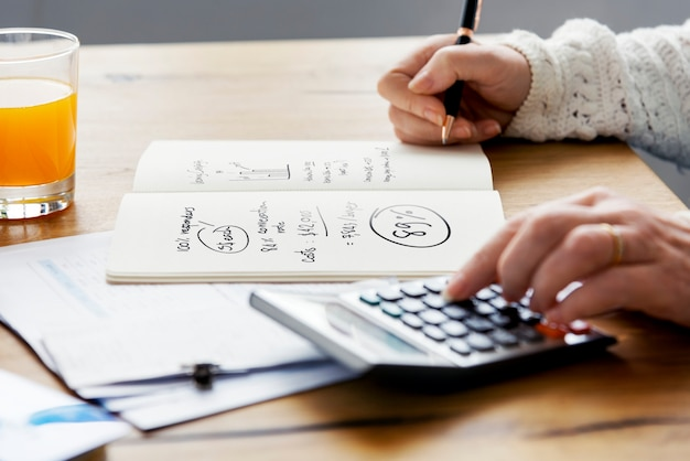 Accounting finance auditing revenue management concept