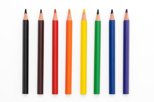Acht kleurpotlood